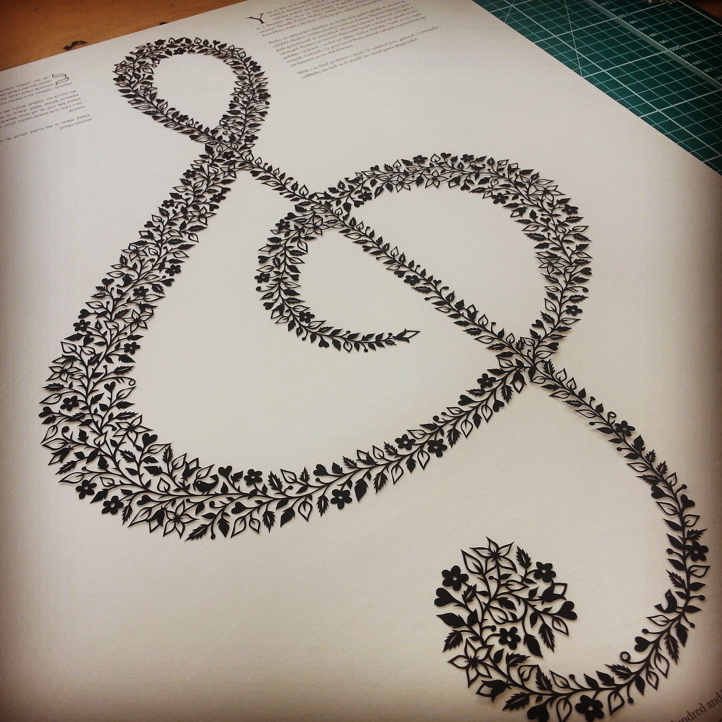 Treble Clef papercut by Suzy Taylor