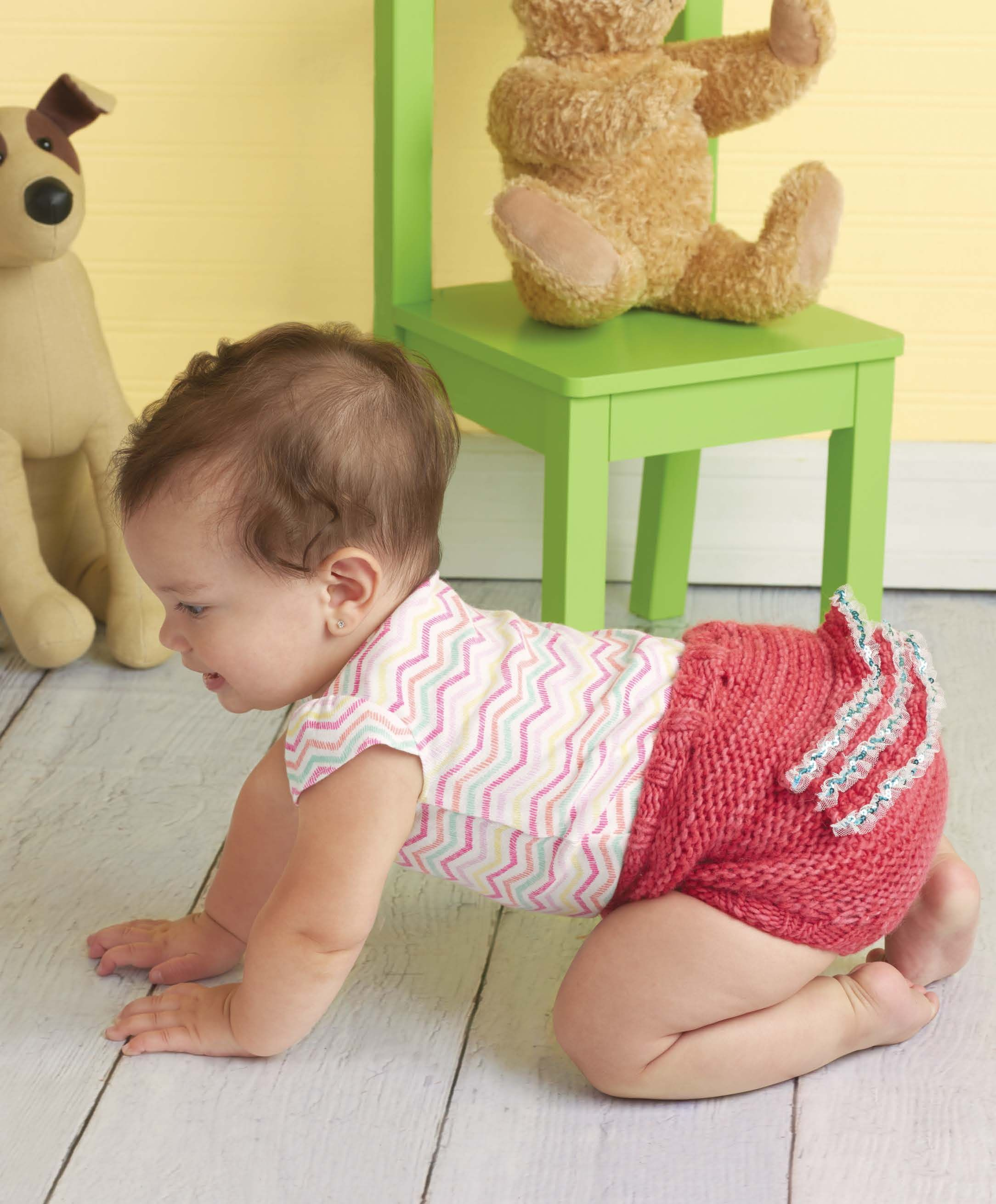 Knitting Pattern: Ruffle Bum Diaper Cover | from Wee Garter Stitch ...