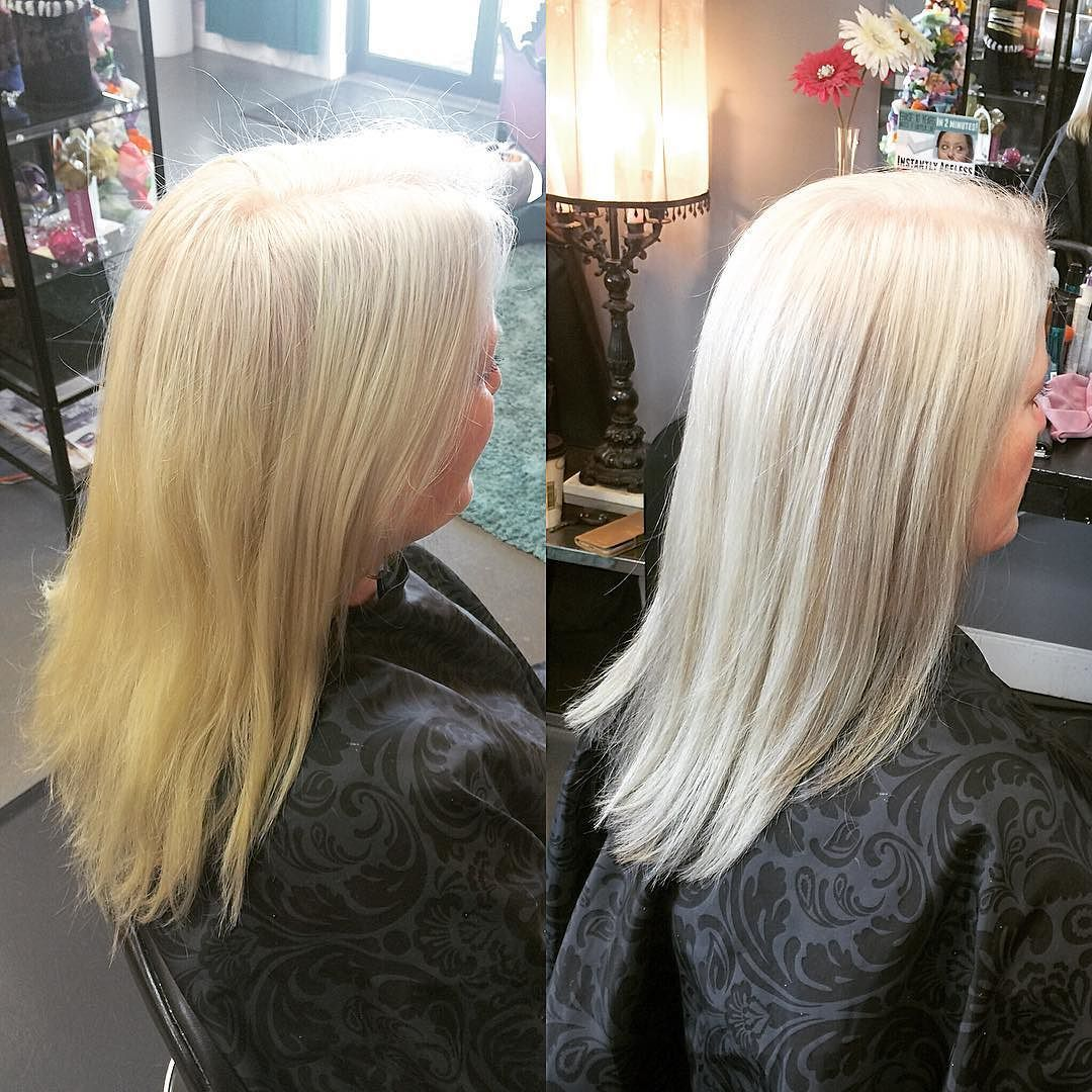 Hair straightening! Before and After using wellahair
