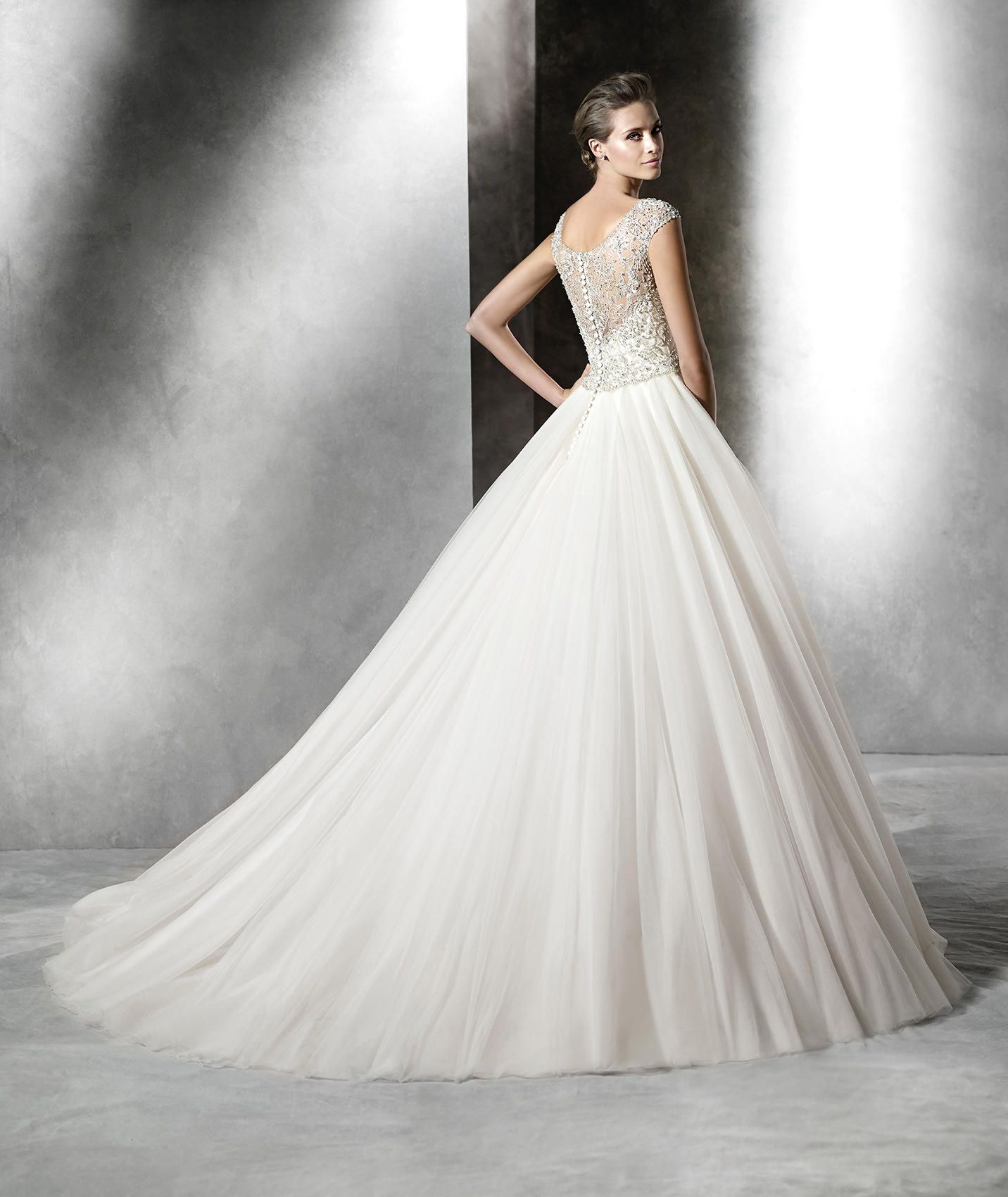PRISMAL - Princess wedding dress with bateau neckline | Pronovias ...