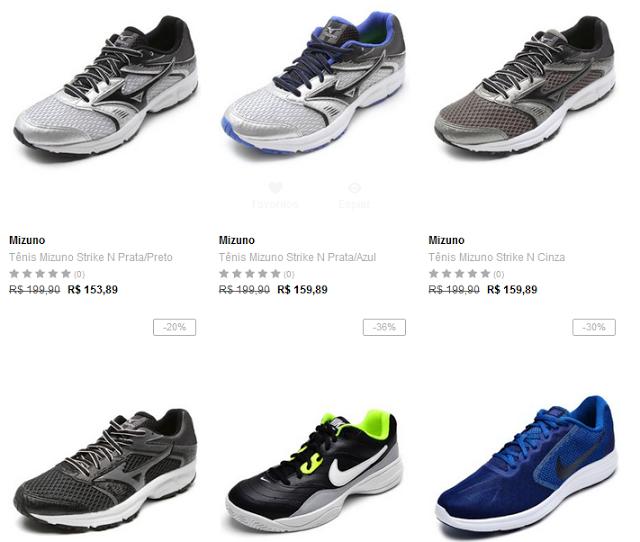 Tênis de Corrida Mizuno Asics Nike Adidas A partir de