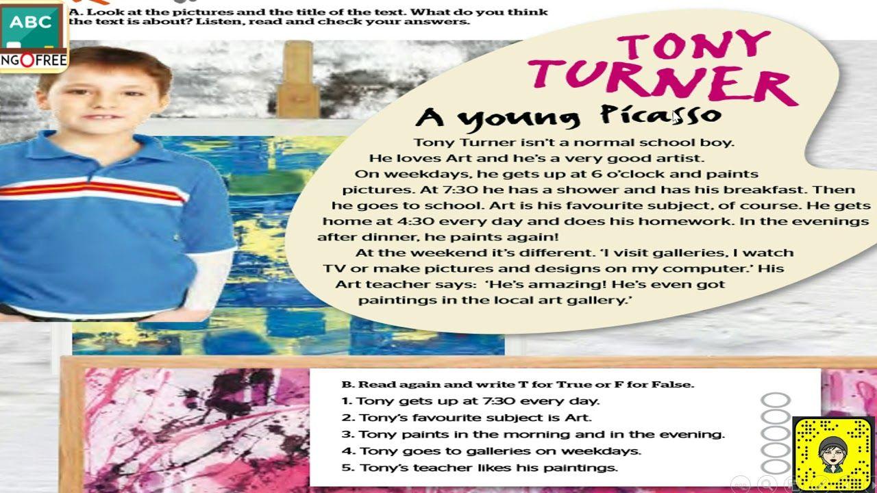 Full Blast 1 Unit3 3a شرح وحل الواجب Tony Turner School Boy How To Plan