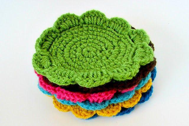 crochet coasters tutorial
