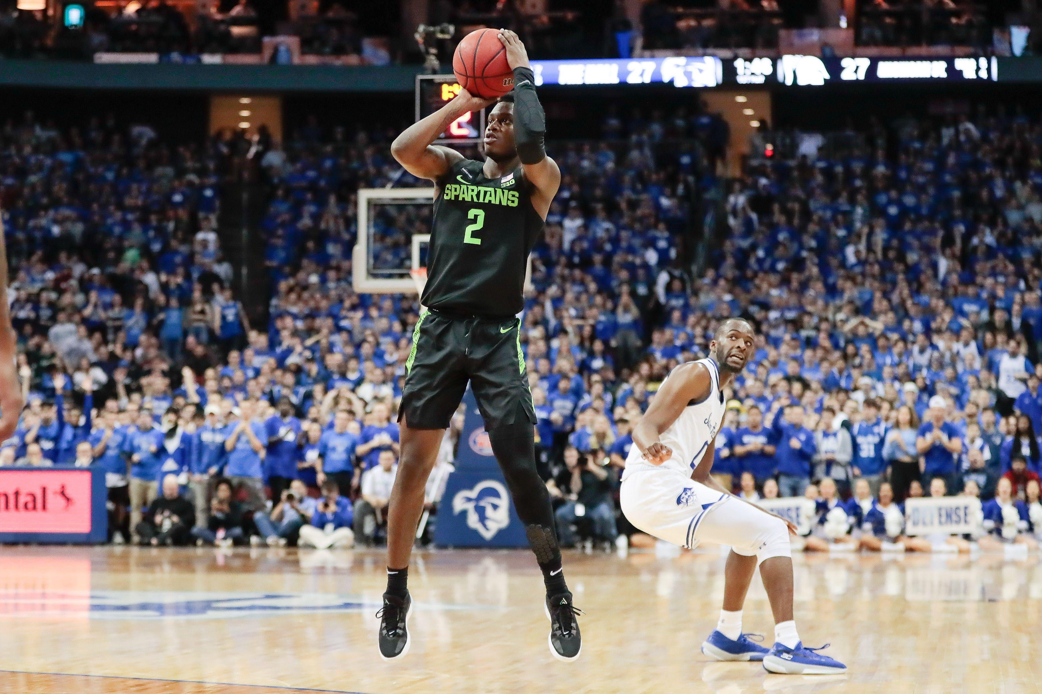 Cassius Winston Malik Hall Propel Michigan State Basketball Past Seton Hall 76 73 Michigan State Basketball Michigan State Michigan