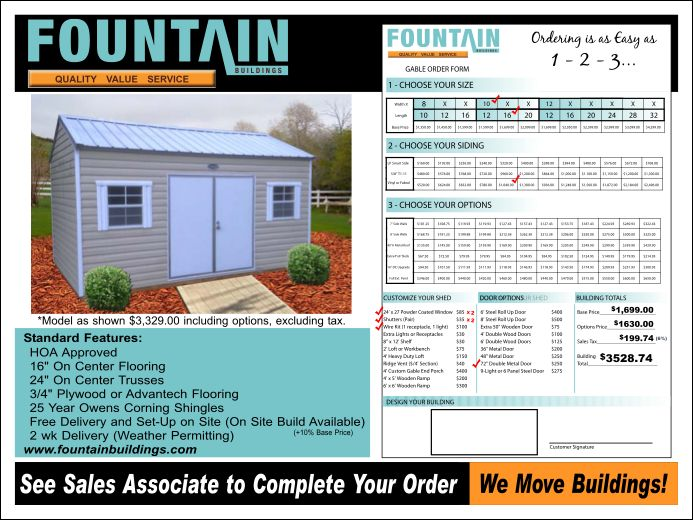 Ordinaire Fountain Storage Buildings   Anderson SC Top Storage Shed Provider
