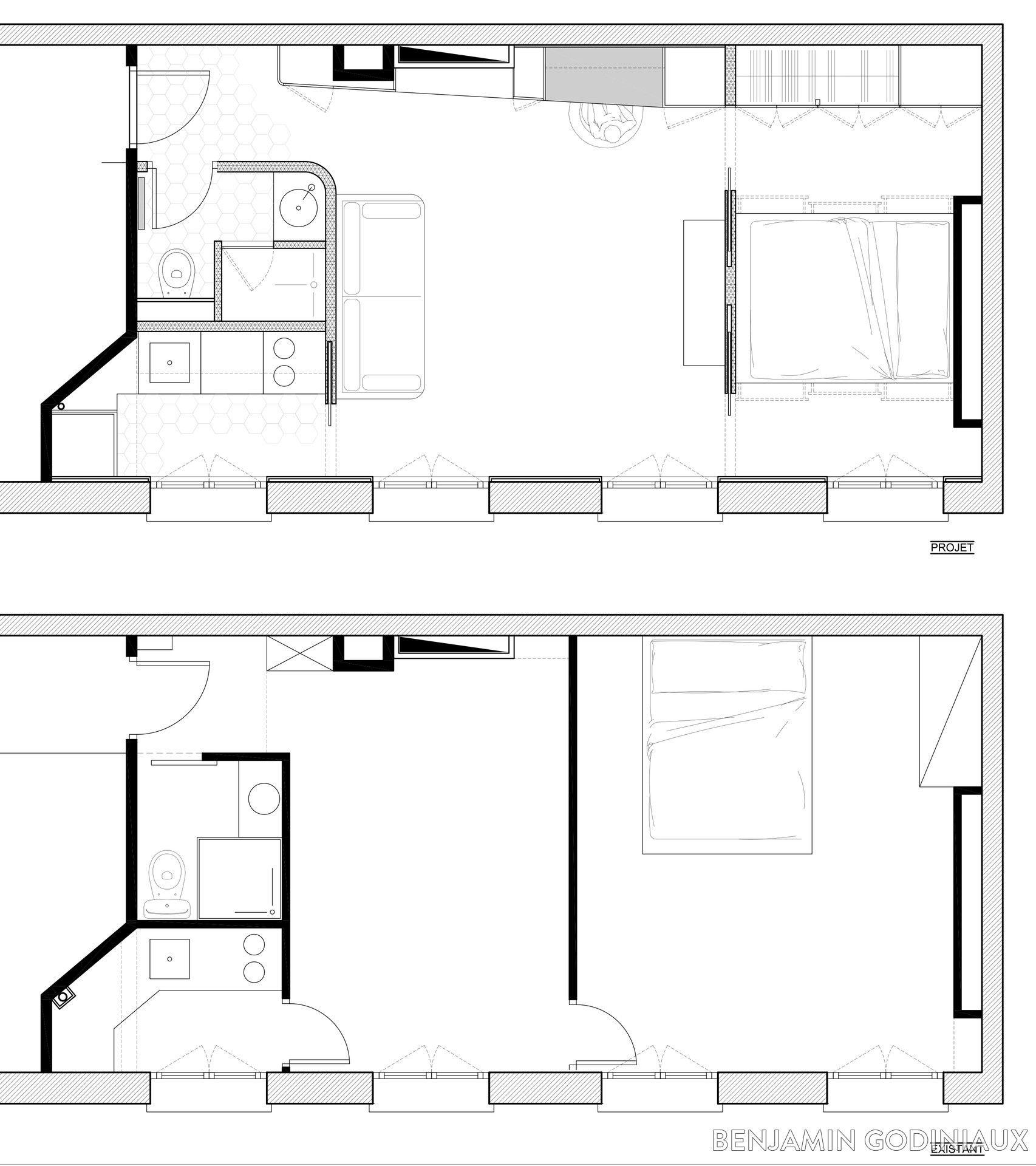 Restructuration complète d\'un appartement, reprise des planchers ...