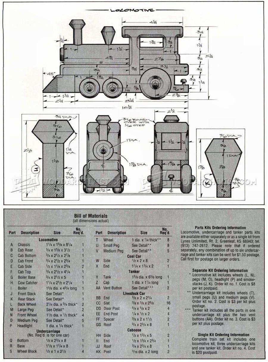 1641 Wooden Toy Train Plans Children S Wooden Toy Plans