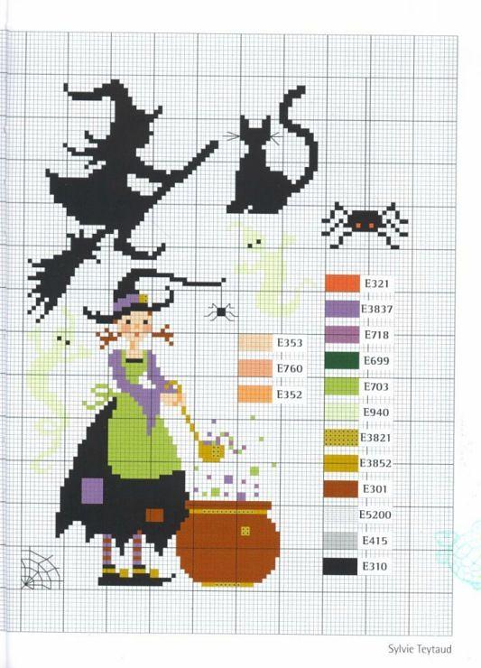 Halloween | useful&random pins | Pinterest | Punto de cruz, Bordado ...