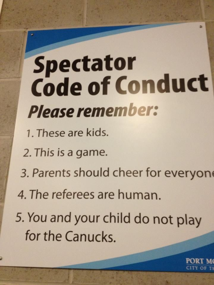 Every Parent Who Has Kids In Sports Code Of Conduct Coding Kids