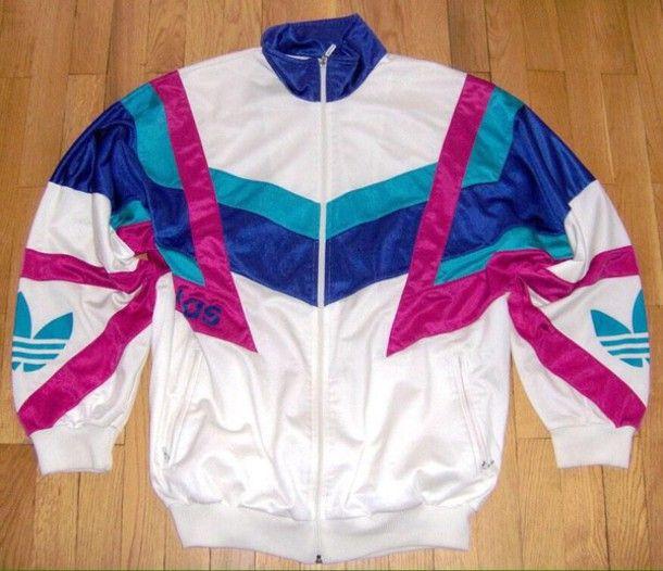 jacket windbreaker adidas vintage 90s jacket 90s style 80s