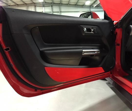 Body Color Painted Door Kick Plates For 2015 2017 Mustang Door Kick Plates 2017 Mustang Painted Doors