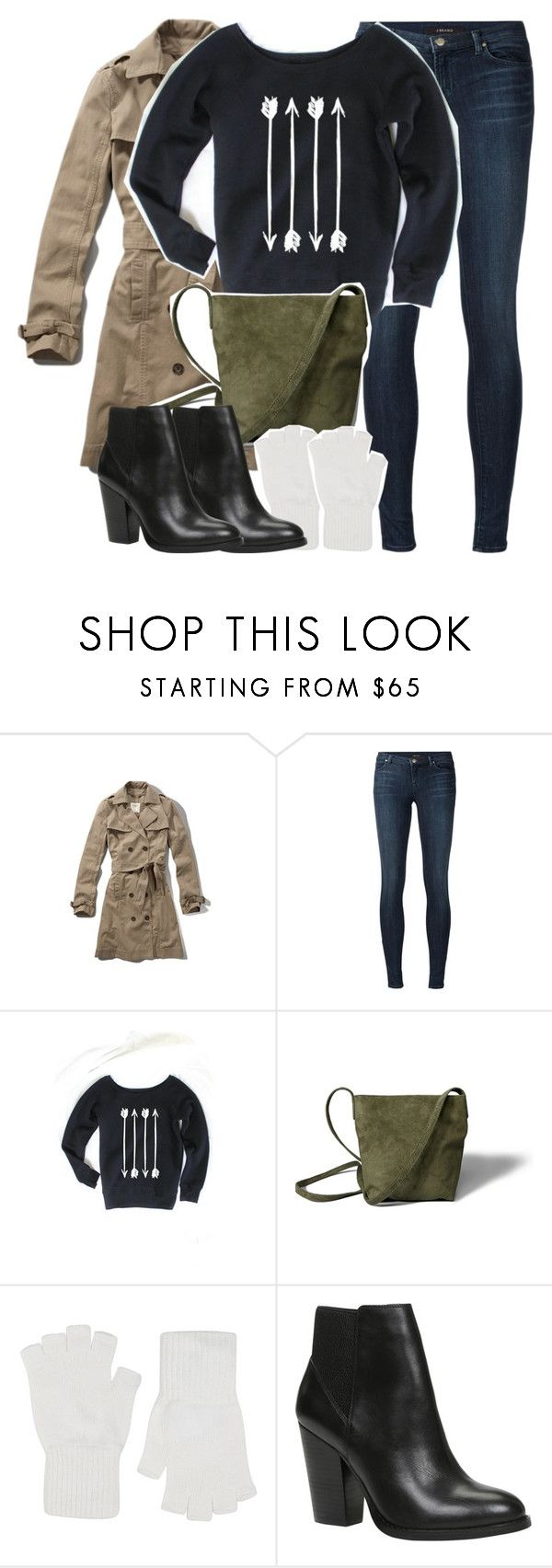 """""""Allison Inspired Winter Outfit"""" by veterization ❤ liked on Polyvore featuring Abercrombie & Fitch, J Brand, Harrods and ALDO"""