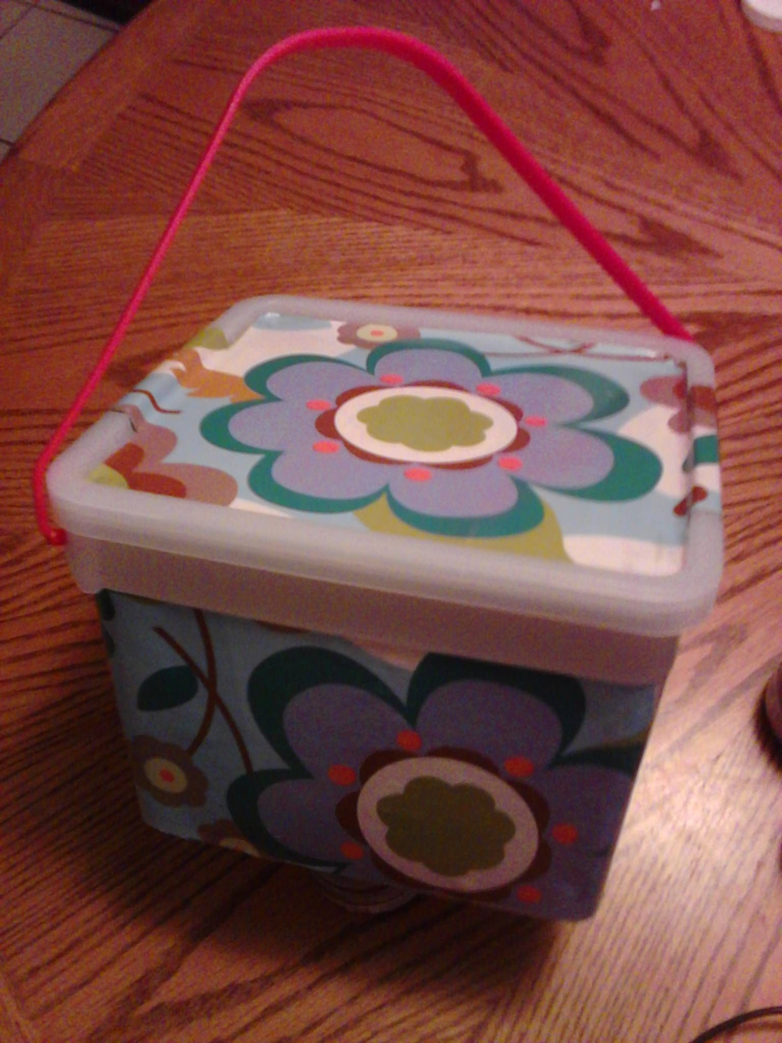 I covered a plastic ice cream tub with hallmark stick on wrapping i covered a plastic ice cream tub with hallmark stick on wrapping paper for my granddaughter jeuxipadfo Image collections