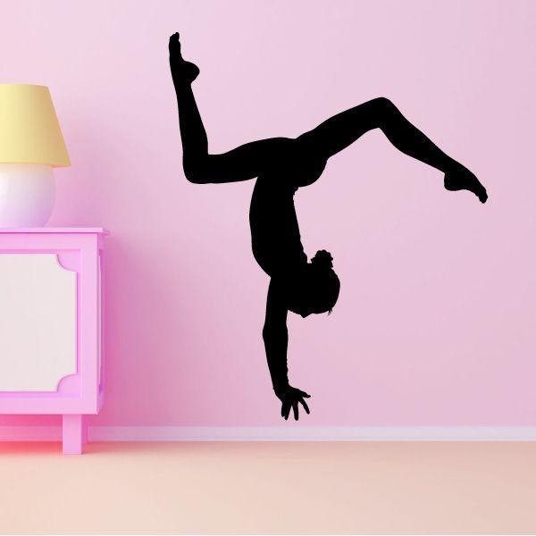 Gymnastics Wall Art gymnast handstand - vivid wall decals removable vinyl wall art