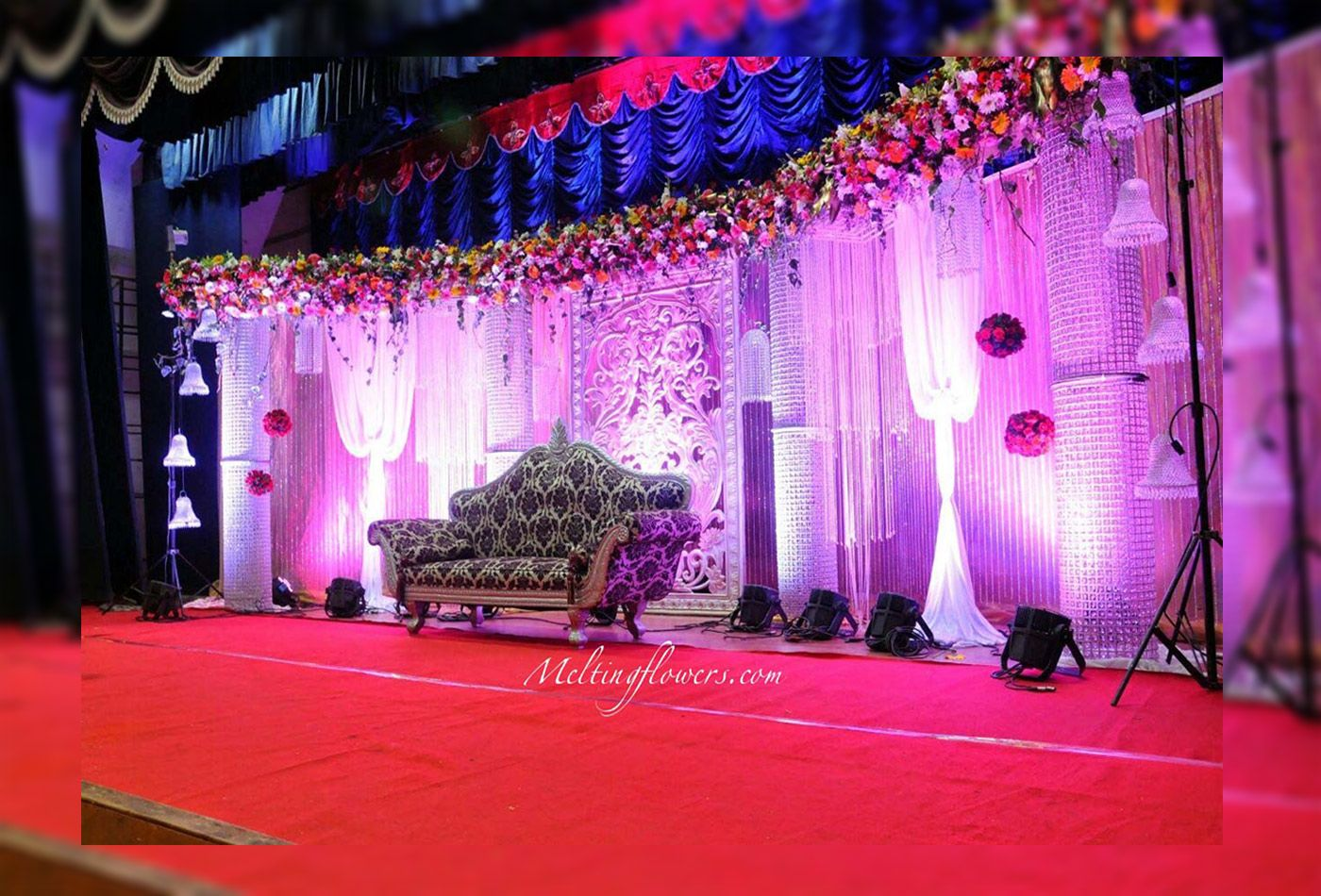 Wedding stage decoration images in hd  Evergreen Best Reception Stage Decoration In Theme Of Purple