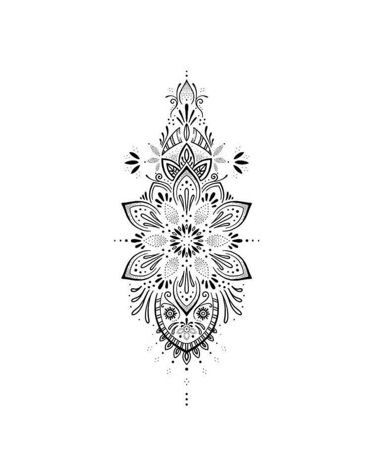 geometric tattoos women