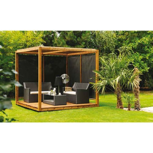 jardipolys tonnelle de jardin cubik toit bois pas cher. Black Bedroom Furniture Sets. Home Design Ideas