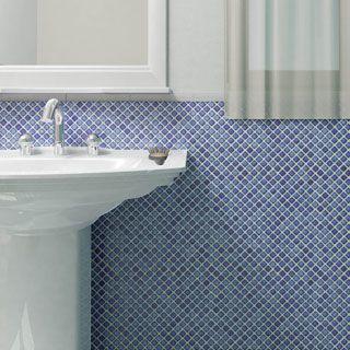 Shop for SomerTile 12.375 x 12.375-inch Jewel Sapphire Porcelain Mosaic Floor…