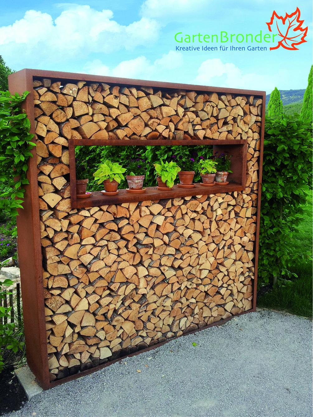 Holzlegen Aus Cortenstahl Amenagement Jardin Amenagement Jardin