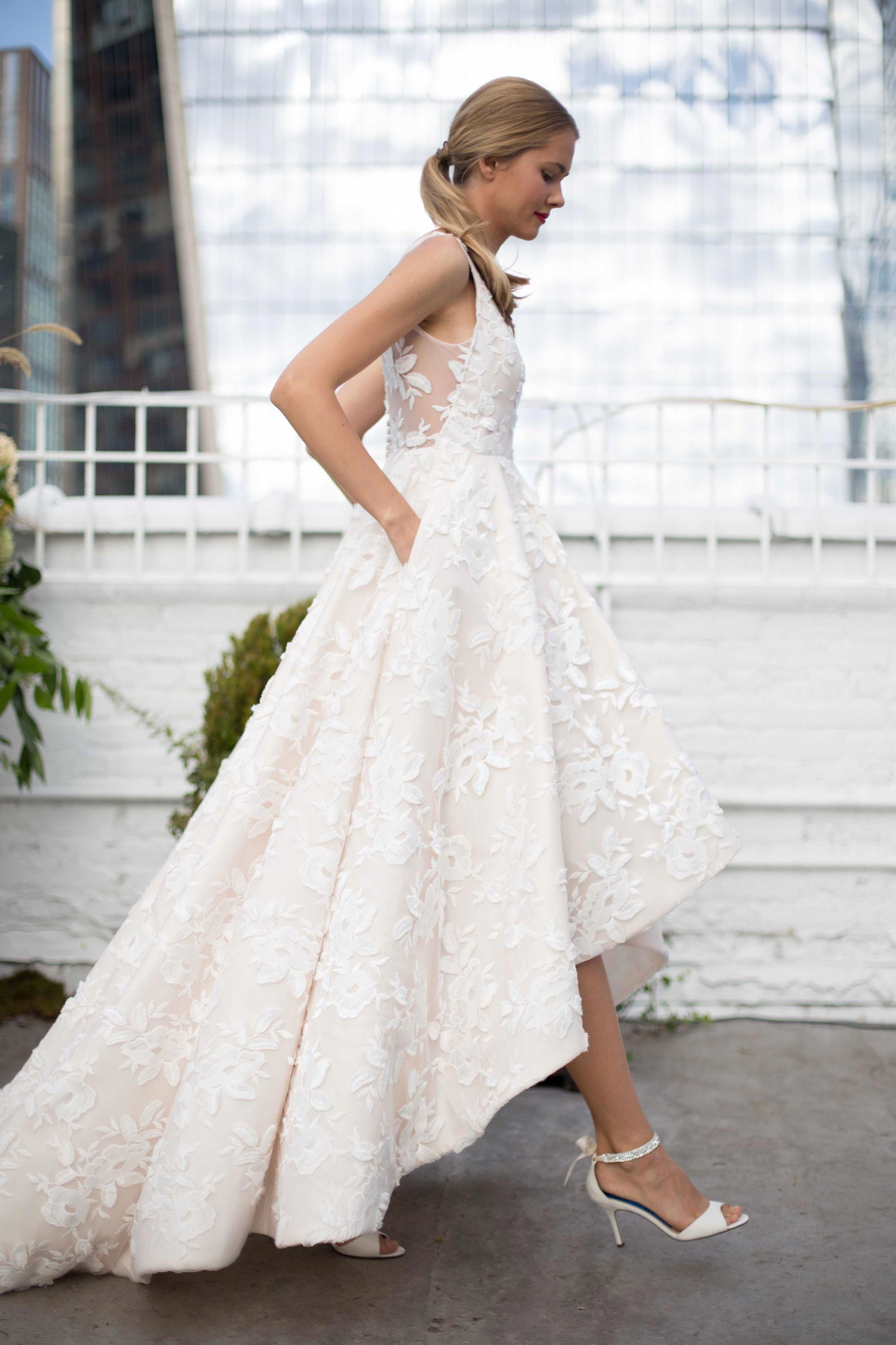 The Riley Gown Part Of Our Jenny By Jenny Yoo Bridal Collection Features 3 Dimensio Wedding Dresses High Low Petite Wedding Dress Wedding Dress Long Sleeve [ 4096 x 2730 Pixel ]