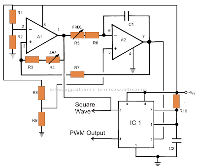 The proposed circuit generates accurately spaced PWM