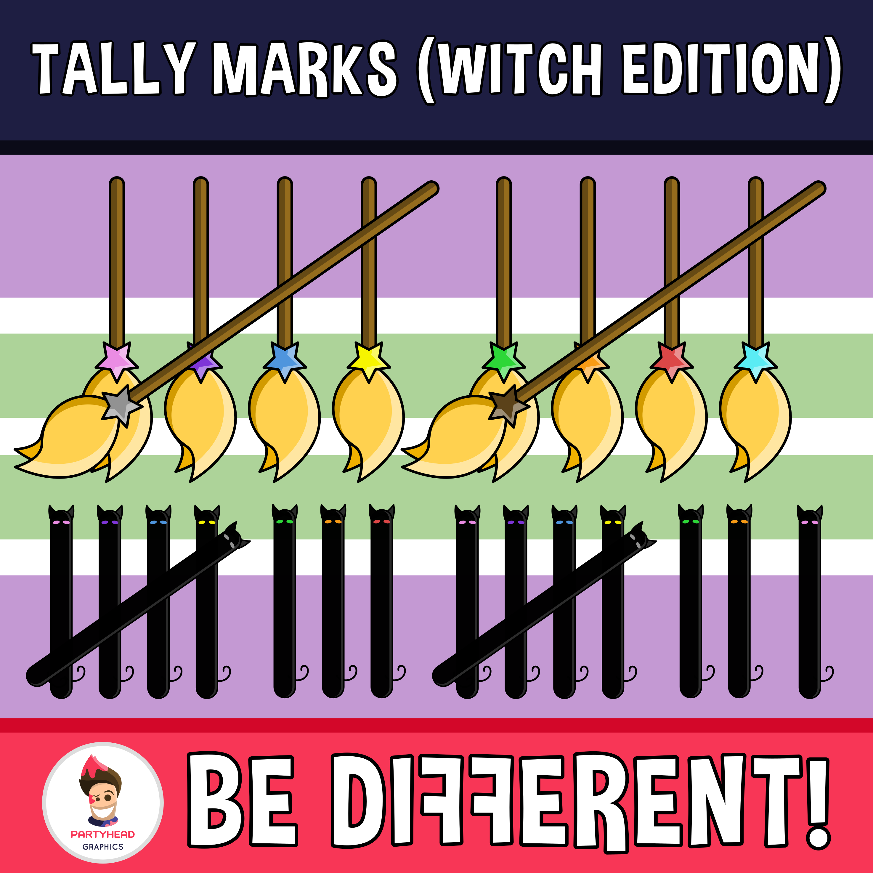 Tally Marks Clipart Witch Edition