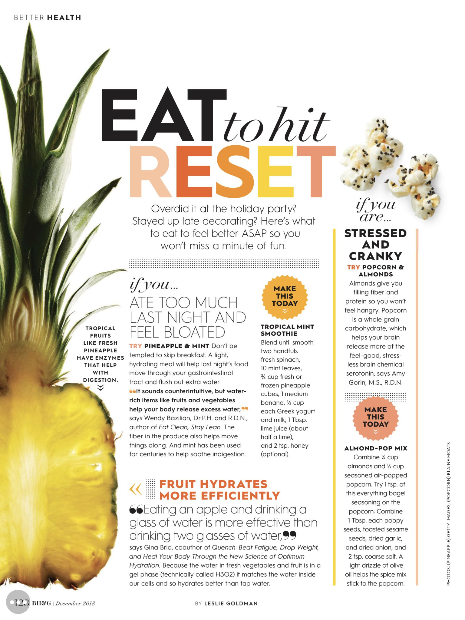 Health magazine layout design