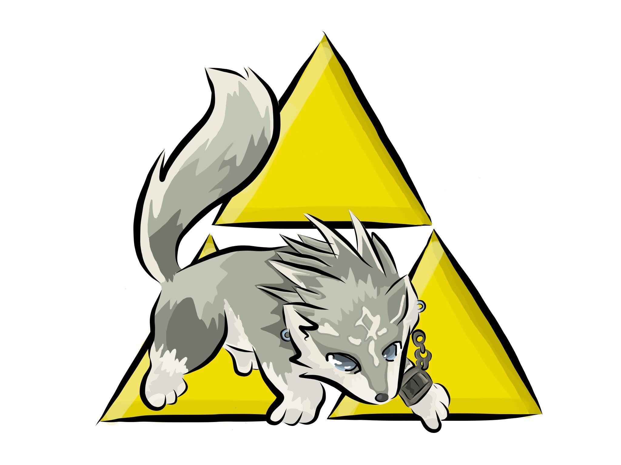 Legend of Zelda twilight princess Wolf link Triforce
