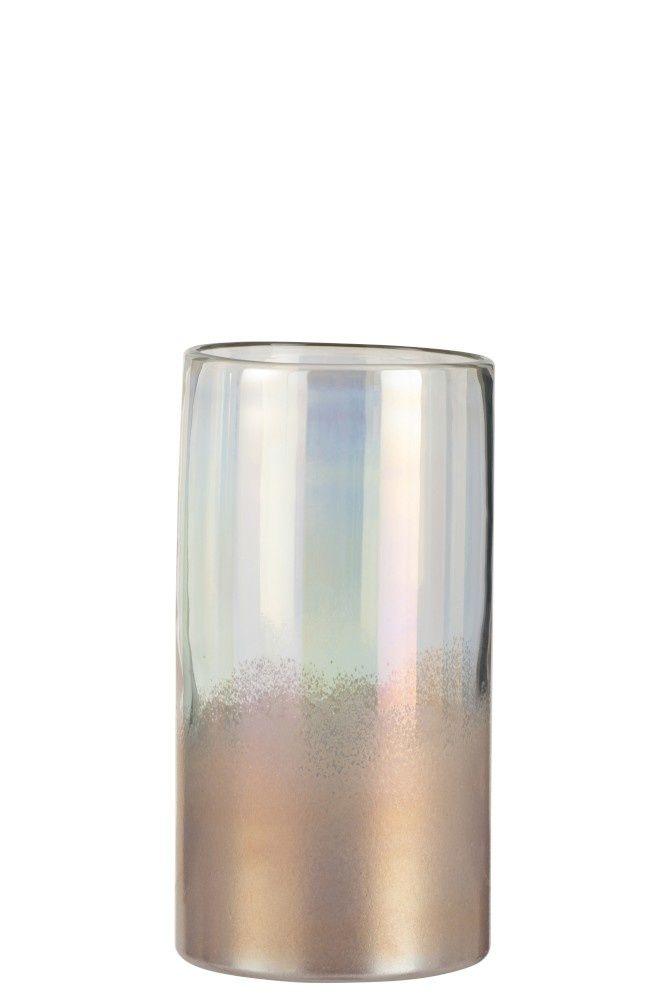 J Line Vaas Rond Hoog Glas Roze Medium In 2020 Vaas Glas Porseleinen Vaas