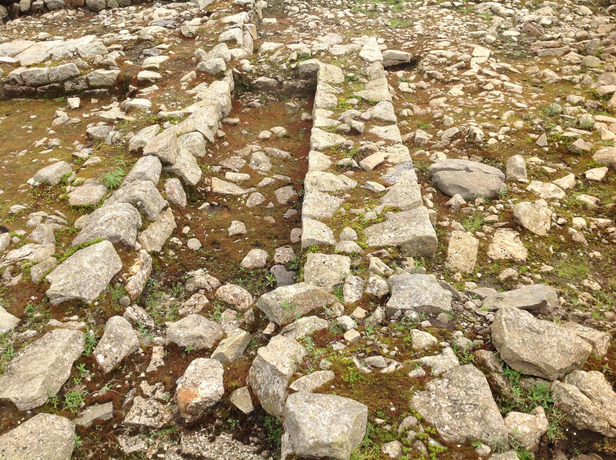 Stonework Vindolander Roman Fort Hexham. Northumberland NE47 7JN UK  5/9/16