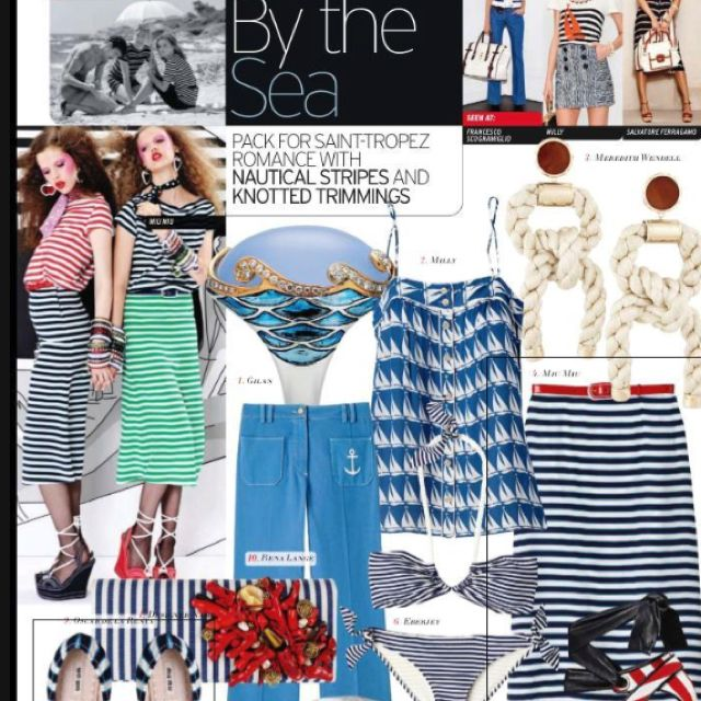 Nautical stripes and knots