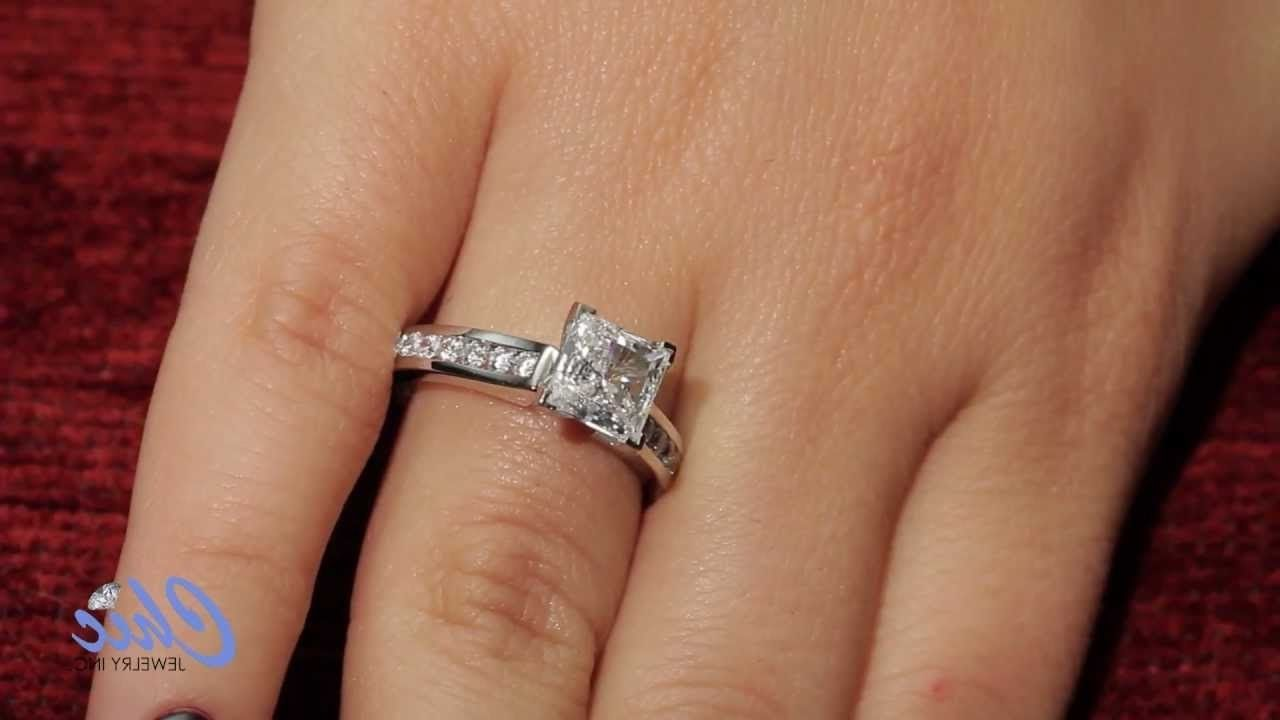 c3bd4ccdf9a17 1.5 Carat Princess Cut Diamond Ring On Hand   Ring   Princess cut ...