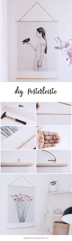 Anzeige} DIY Posterleiste aus Holz | Hanger, Tutorials and Crafts