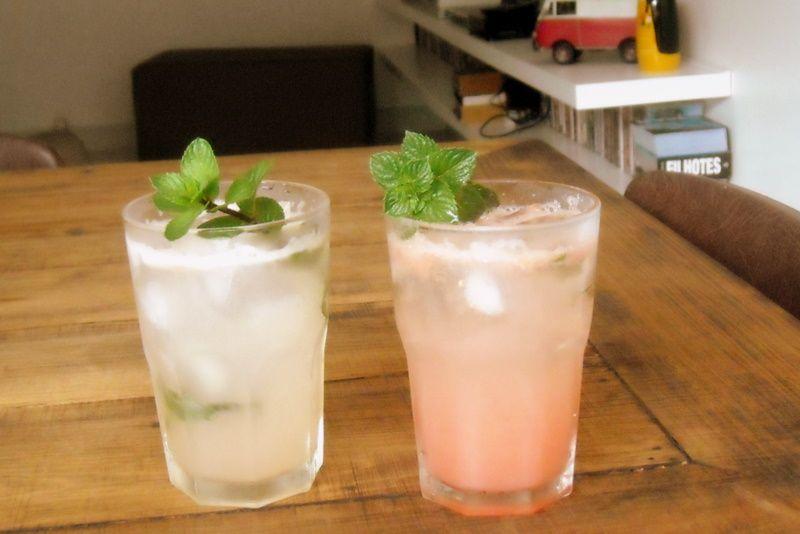 versão com e sem tequila de drinque com grapefruit e hortelã (by Márcio Pinheiro) #nossacozinha