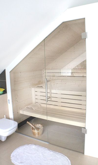 Sauna nach Maß \u2013 Jedem seine Sauna! Szauna épités Pinterest - schiebetüren für badezimmer