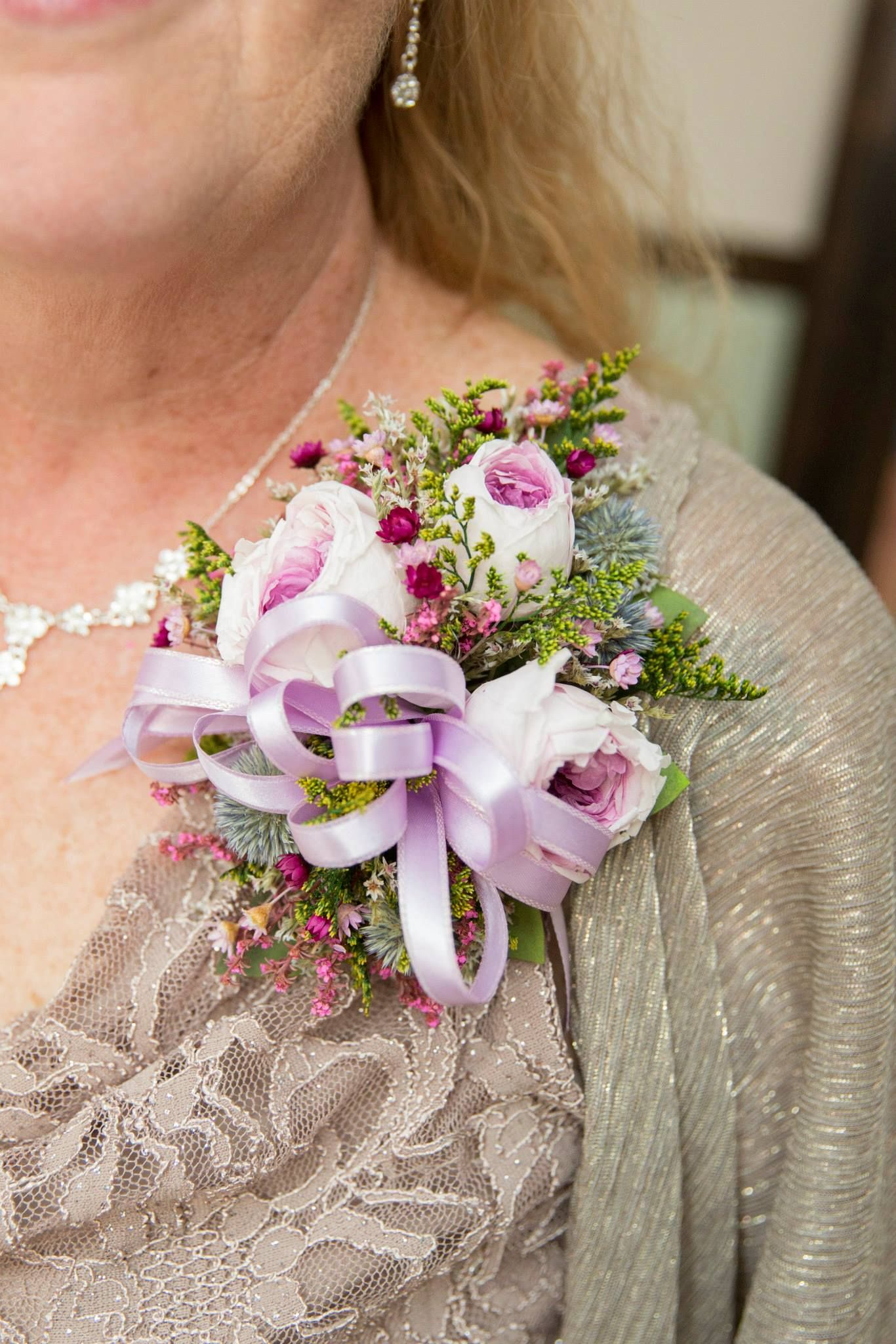 Bridal Shower Corsage Pin Mother of the Groom Flower