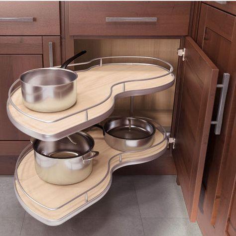 Ideas for kitchen corner solutions cabinet organizers #cabinetorganizers
