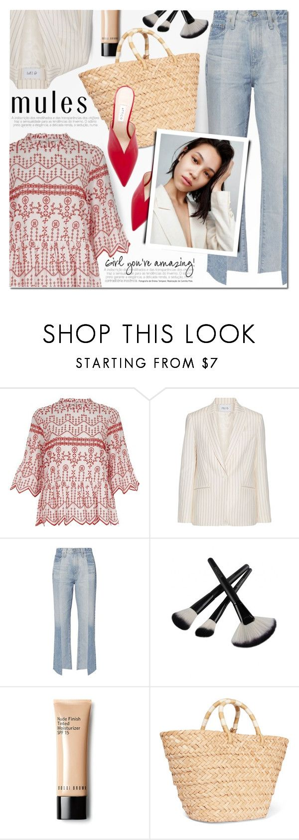 """""""Slip 'Em On: Mules"""" by a-a-nica ❤ liked on Polyvore featuring River Island, PALLAS, AG Adriano Goldschmied, Kayu and Attico"""