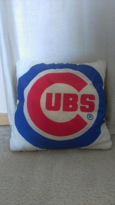 Cubs pillow made from an old flag I found laying around.