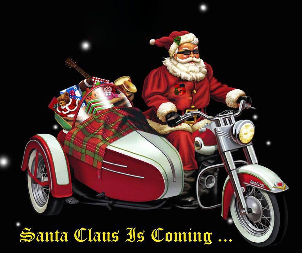 Xmas Bikers   Santa\'s Got a Brand New Ride   Pinterest   Bikers and Xmas