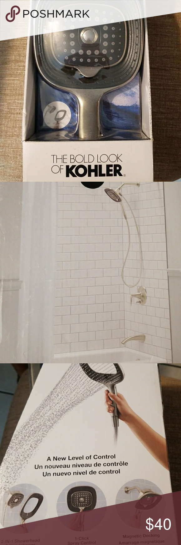The Bold Look Of Kohler 2 In 1 Shower Head Nwt Shower Heads
