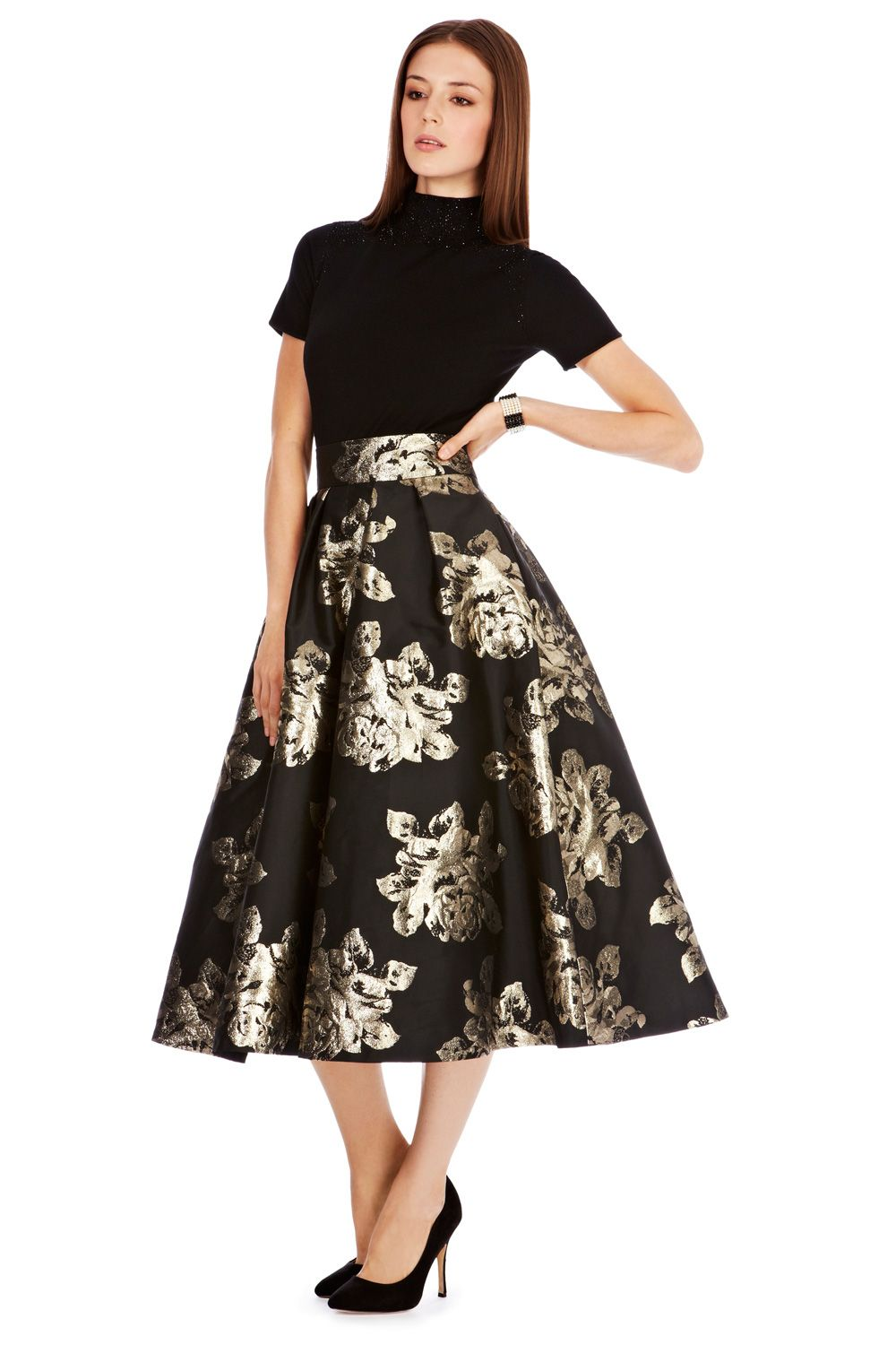 b853a246d85d9 midi skirt crafted from exclusively made Duchess Satin!