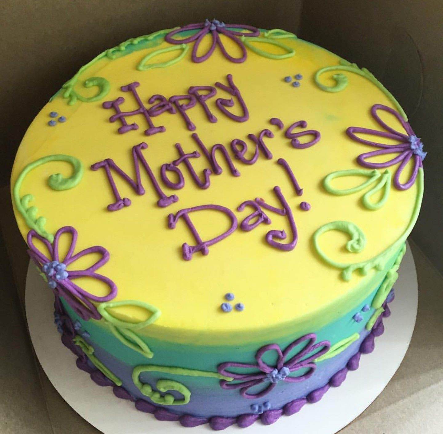 Happy Mother S Day Cake Mothers Day Cake Round Birthday Cakes Cake