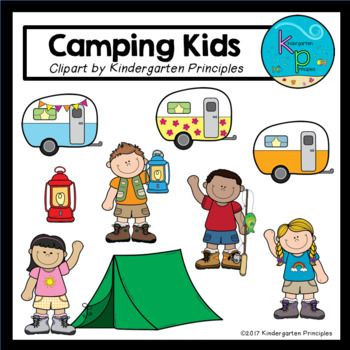 Camping Kids Camping Clipart Set Clip Art Camping With Kids