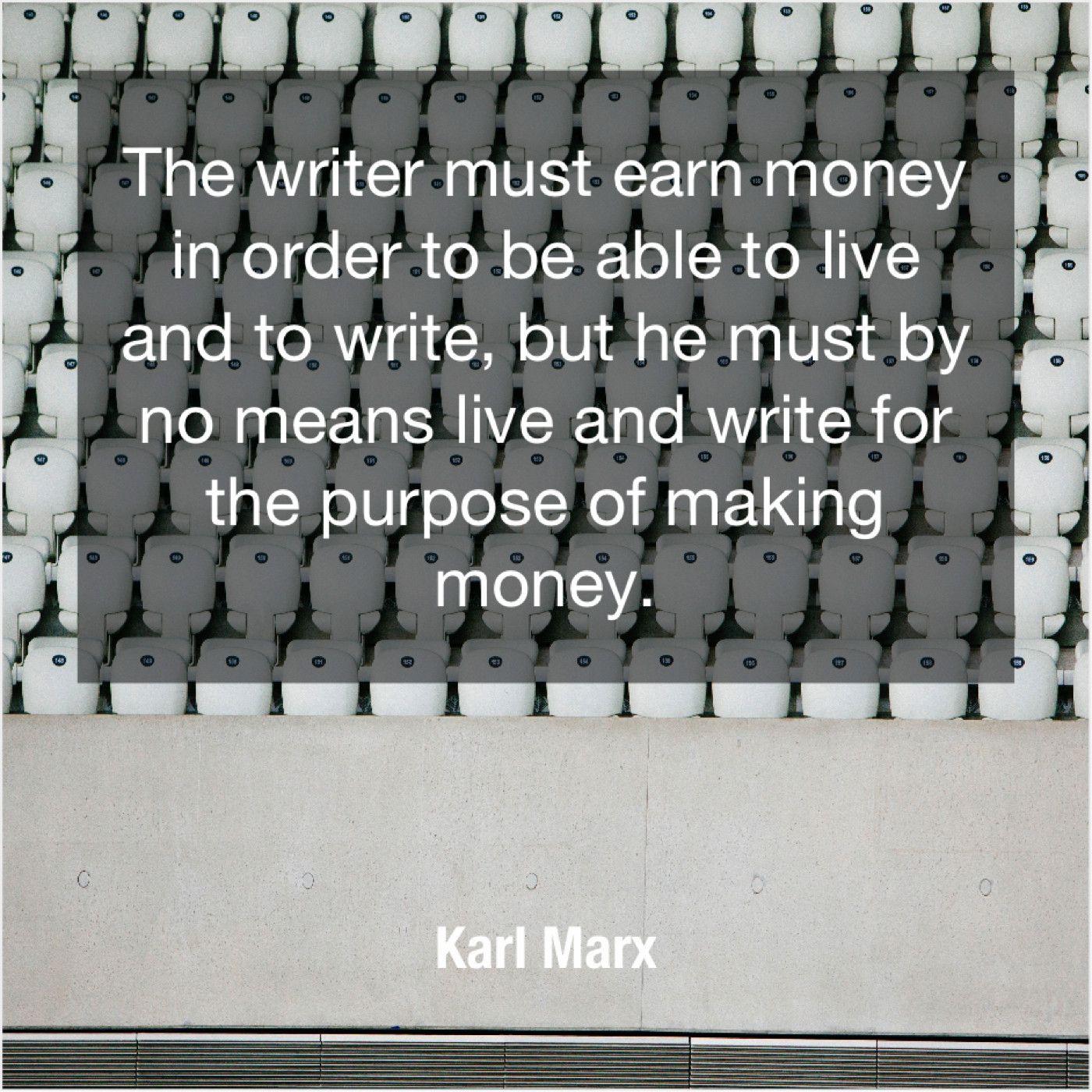 Karl Marx The Writer Must Earn Money Leona Lewis Karl Marx William Hague