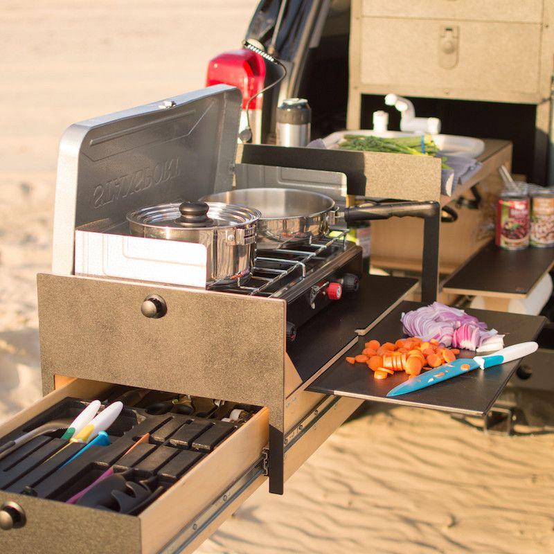 Kitchen Set Up: Truck Camping, Kitchen