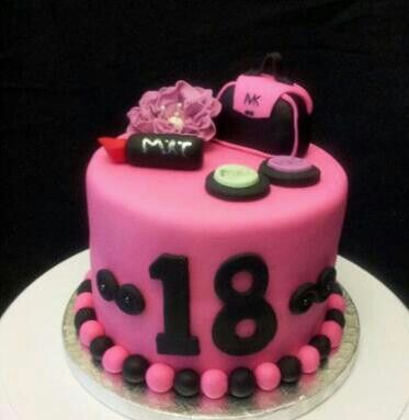 makeup birthday cake 6 inch birthday cake with makeup purse and flower 5660