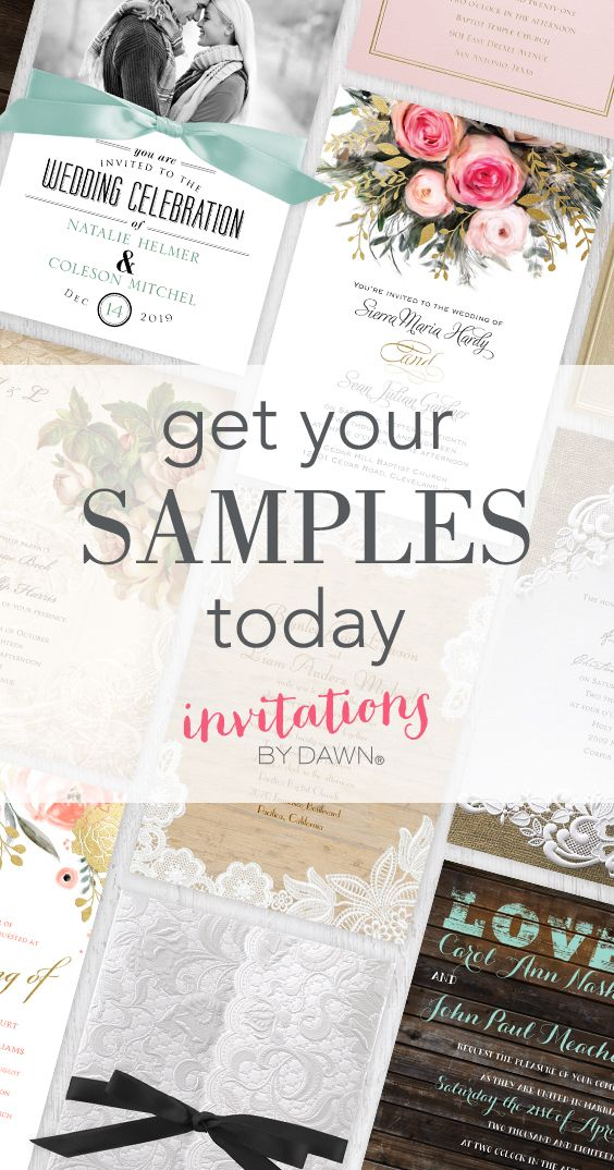 How do you find the perfect wedding invitation? By choosing 3 free ...