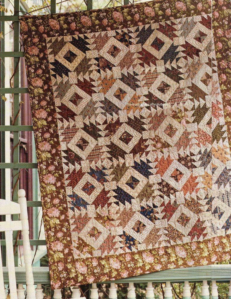 PATTERN pieced quilt mini PATTERN Creative Card Nellie Hill Chevron Quilt
