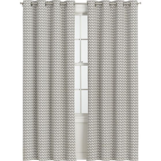 Reilly 50 X84 Grey Chevron Curtain Panel Reviews Crate And Barrel Sheer Curtain Panels Curtains Panel Curtains